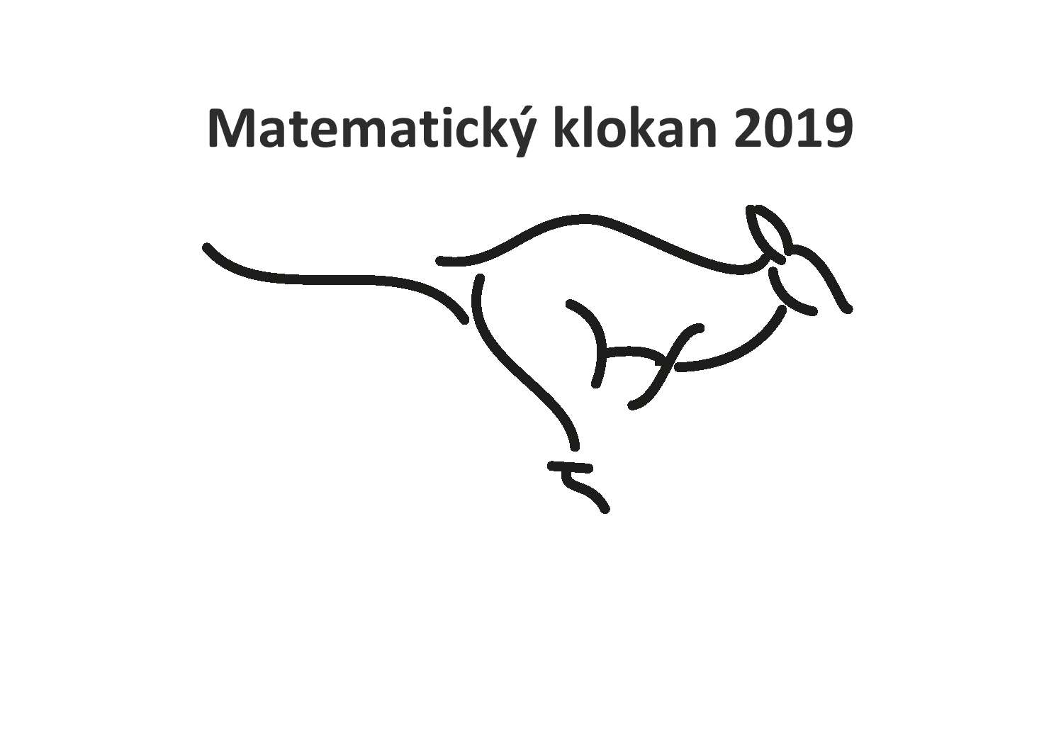 MATEMATICKÝ KLOKAN 2019